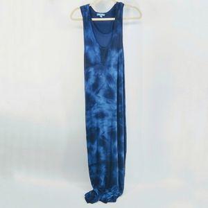 🐾 Fleur Bleue Tie Dye Sleeveless Maxi Dress